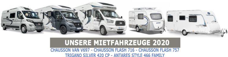Chausson, Trigano oder Antares mieten 2020 bei Caravan Neuhaus Duisburg